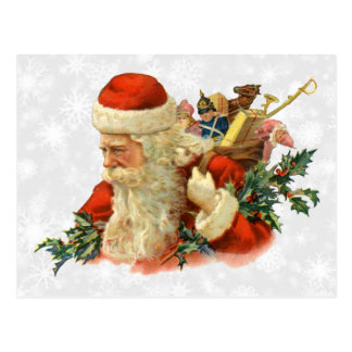 vintage santa or st nick postcard