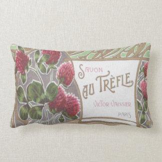 Vintage Savon Au Trefle Perfume Label Pillow