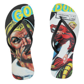 Vintage Sci-Fi Comic Book Thongs
