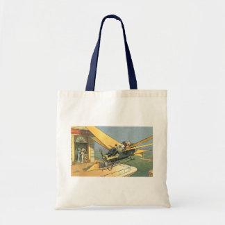 Vintage Science Fiction Steampunk Convertible Car Tote Bag
