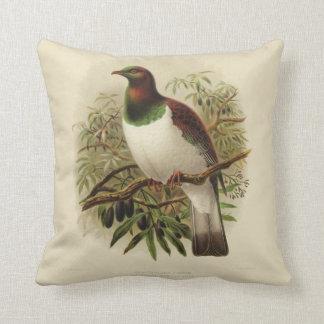 Vintage Science NZ Birds - Kereru Square Cushion