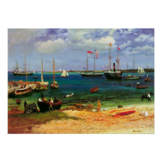 Vintage Seascape, Nassau Harbor by Bierstadt Poster