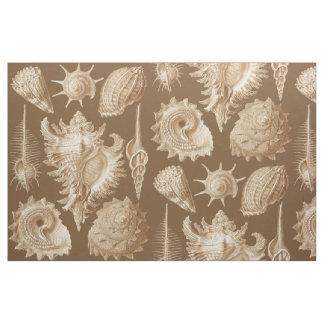 Vintage Seashells Antique Fabric