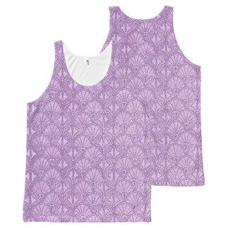 Vintage Seashells Lavender Purple All-Over Print Singlet