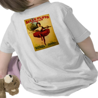 Vintage Sells-Floto Circus Poster Wire Walker Tshirt