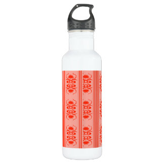 Vintage shabby and chic art nouveau in Tangerine 710 Ml Water Bottle