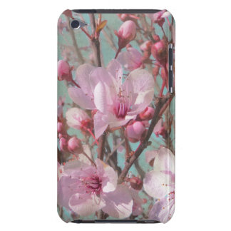 Vintage Shabby Chic Pink Cherry Blossoms Barely There iPod Covers