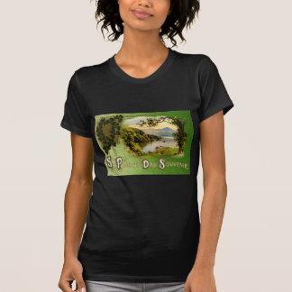 Vintage Shamrock Souvenir Emerald Isle St Patrick T-Shirt