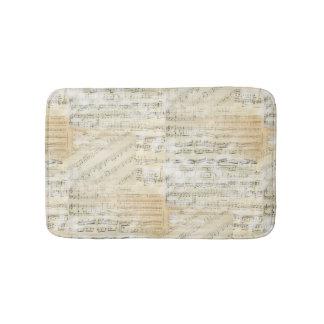 Vintage Sheet Music Bath Rug