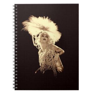 Vintage Showgirl Spiral Notebook