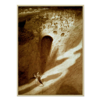 Vintage Sidney Sime The City of Never Poster