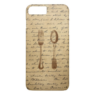 Vintage Silverware Fork & Spoon iPhone 7 Plus Case