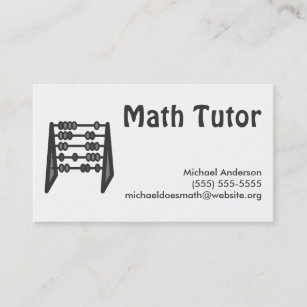 White math business cards zazzle nz vintage simple black white math tutor business card colourmoves