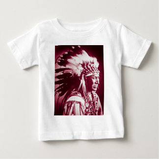 Vintage Sioux Lakota Chief White Swan Baby T-Shirt