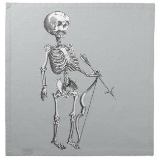 Vintage Skeleton Archer Napkin