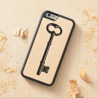 Vintage Skeleton Key Carved Maple iPhone 6 Bumper Case