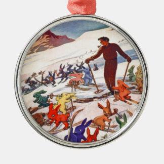 Vintage Ski Poster, Arlberg, St Anton Christmas Ornament