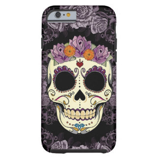 Vintage Skull and Roses iPhone 6 Tough Tough iPhone 6 Case