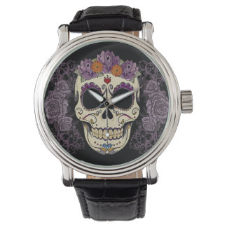 Vintage Skull and Roses Watch