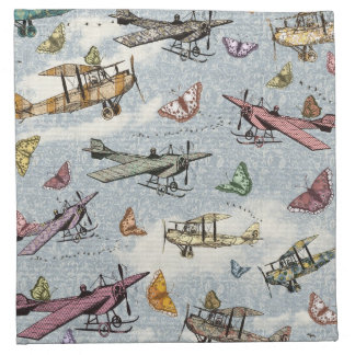 Vintage Sky - Planes and Butterflies Napkin