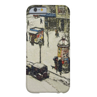Vintage Snow Covered 1920s City Street Cars Winter Barely There iPhone 6 Case