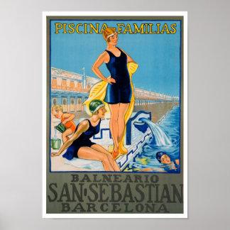 Vintage Spanish Travel Poster Print