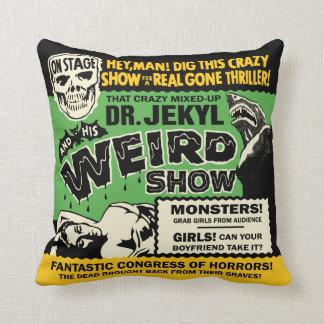 Vintage Spook Show Poster Art - Dr Jekyl Cushion