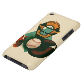Vintage Sports, Baseball Player, Catcher with Mitt iPod Touch Cover