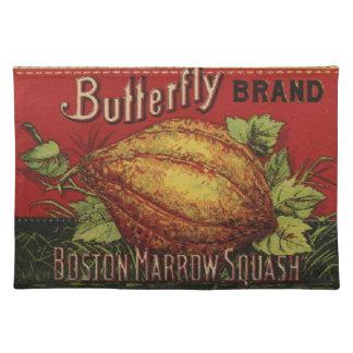 Vintage Squash Label Antique Vegetable Advertising Placemat