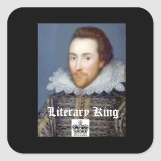 Vintage Sryle William Shakespeare Theme Sticker