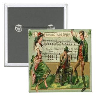 Vintage St Patricks Day 5 15 Cm Square Badge