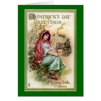 Vintage St. Patrick's Day Greeting Greeting Card