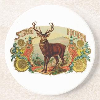 Vintage Stag Horn Coaster