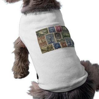 Vintage Stamps Collage Shirt