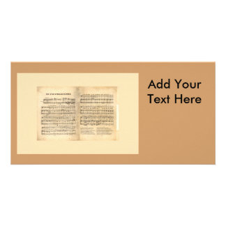 Vintage Star Spangled Banner Song Sheet Lyrics Picture Card