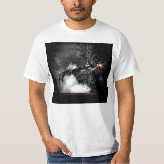 Vintage Steam Engine Black Locomotive Train T-Shirt