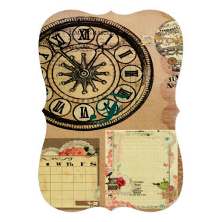Vintage,steam punk,clocks,collage,victorian,girly, cards