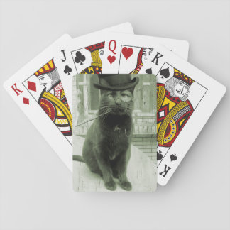 Vintage Steampunk LOL Funny Cat Playing Cards