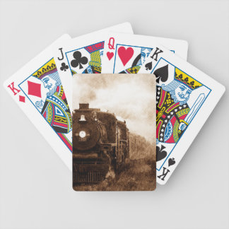 Vintage Steampunk Railroad Antique Steam Train Bicycle Playing Cards