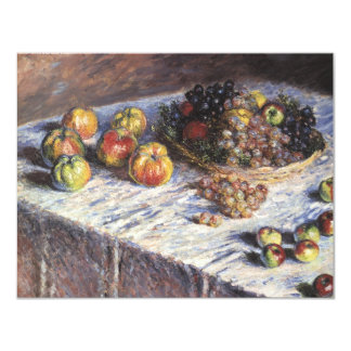 "Vintage Still Life by Claude Monet, Thanksgiving 4.25"" X 5.5"" Invitation Card"