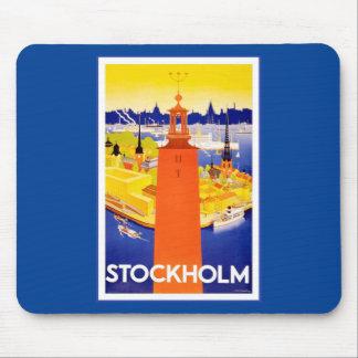 Vintage Stockholm Sweden Mouse Pad