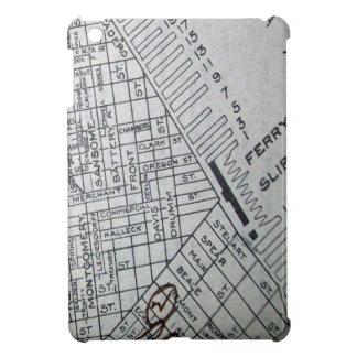Vintage Street Map of Downtown San Francisco Calif Cover For The iPad Mini