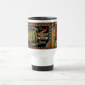 Vintage String Beans Label Travel Mug