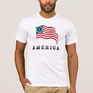 Vintage Style American Flag T-Shirt