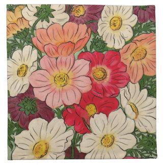 Vintage style Bright floral display Napkin
