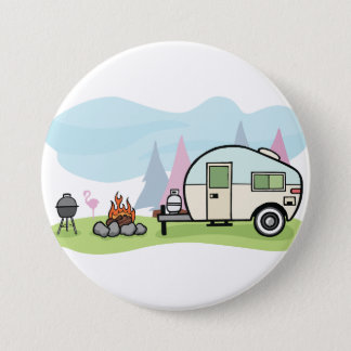 Vintage Style Camper Button