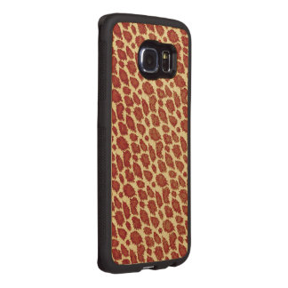 Vintage Style Cheetah Abstract Wood Phone Case