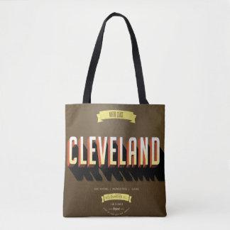 Vintage Style Cleveland, Ohio Tote Bag