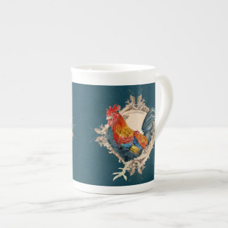 Vintage Style French Country Rustic Barn Rooster Bone China Mug