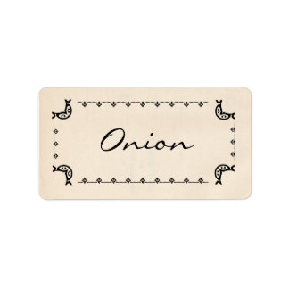 Vintage-Style Onion Labels